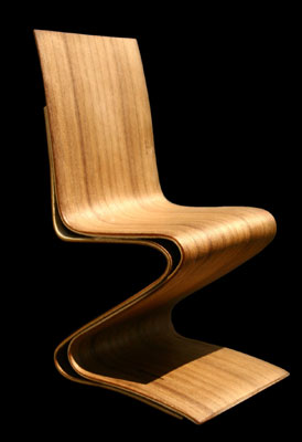 folded veneer chair